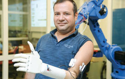 Turkey's first prosthetic arm was developed at Koç University.